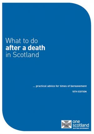 what to do after a death in Scotland booklet