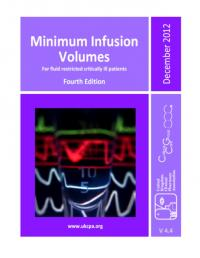 Minimum infusion volumes in ICU
